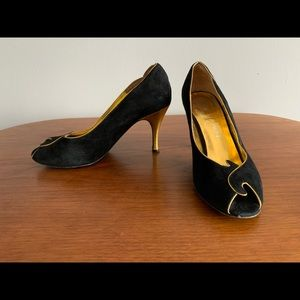 Donald J Pilner vintage velvet heels